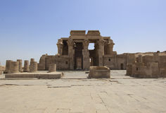 Entrance to the temple at Kom Ombo Stock Photos