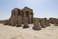 Entrance to the temple at Kom Ombo Royalty Free Stock Images