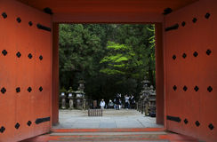 Entrance to temple in Nara, Japan Royalty Free Stock Image
