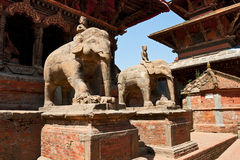 Entrance to the temple in Patan, Nepal Royalty Free Stock Photo