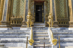 Entrance to temple at Wat Phra Kaeo Royalty Free Stock Photo