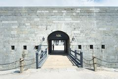 The entrance to a 19th century fort site royalty free stock image