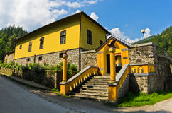 Entrance to 13th century Rača monastery. West Serbia royalty free stock photography