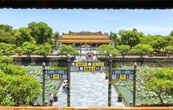 Entrance to Thai Hoa Palace stock image