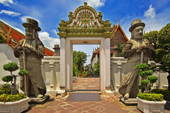 Entrance to Thai Wat Royalty Free Stock Photo