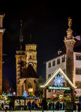 Entrance To The Christmas Market Royalty Free Stock Photography
