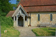 Free Entrance To The Church Of The Holy Cross, Bignor, Sussex, UK Royalty Free Stock Images - 157609189