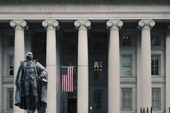 Free Entrance To The United States Treasury Building Royalty Free Stock Photography - 132611617