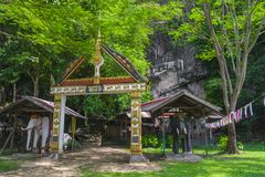 Entrance to theTham Xang Cave Royalty Free Stock Photo