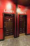 Entrance to theWC, toilets in the restaurant, separate for ladie Royalty Free Stock Images