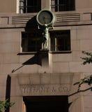 Entrance to Tiffany & Co. stock image