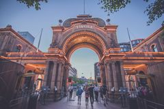Entrance to the Tivoli Gardens in Copenhagen royalty free stock photography