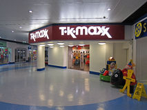 Entrance to a TK Max store. Royalty Free Stock Image