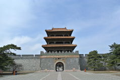 The entrance to the tomb of Hong Taiji. This was the Longen gate to the tomb of Hong Taiji. He was the second emperor of Qing dynasty. This tomb is located in Royalty Free Stock Images