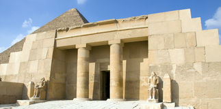Entrance to the tomb of the wife of Pharaoh Royalty Free Stock Photography