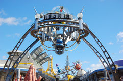 Entrance to Tomorrowland in Disney World royalty free stock photography