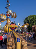 Entrance to Tomorrowland  at the Disneyland Park Stock Photos