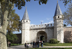 Entrance to the Topkapi palace in Istanbul royalty free stock photo