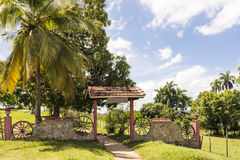 Entrance to tourist farm in Cuba Stock Images