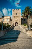 Entrance to town Korcula royalty free stock photo