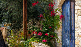 Entrance to a traditional house. Lofou village, Limassol district, Cyprus.  Royalty Free Stock Photography