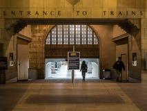 Entrance To Trains Toronto Union Station Stock Photo