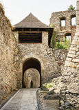 Entrance to the Trencin castle, Slovakia Stock Photo