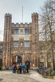 Entrance to the Trinity College in Cambridge, UK Royalty Free Stock Photography