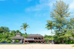 Entrance to a Tropical Luxury Resort Hotel Stock Photography