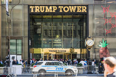 Entrance to Trump Tower Stock Photography