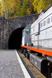 Entrance to the tunnel. (around Baikal railroad Stock Photo