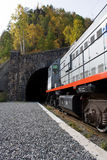 Entrance to the tunnel. (around Baikal railroad Stock Photography