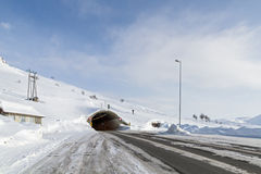 The entrance to the tunnel. Norway Stock Photo