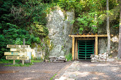 The entrance to the tunnels built by the Nazis in Poland Stock Photography