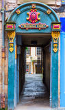 Entrance to Tweeddale Court in the old town of Edinburgh Royalty Free Stock Images