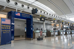 Entrance to U.S.A in Canada's Pearson International Airport Stock Photography