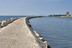 Entrance to Umag marina. Stock Photography
