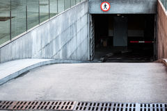 Entrance to underground car park Royalty Free Stock Images