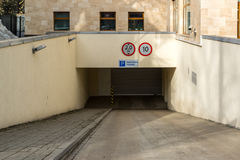 Entrance to underground garage in Russia Stock Photography