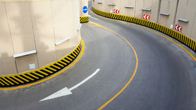 Entrance to underground parking Royalty Free Stock Photography