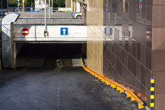 Entrance to underground parking Stock Image