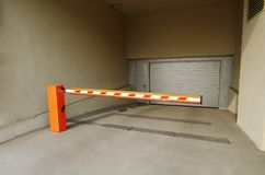 The entrance to the underground Parking. Stock Photo