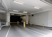 Entrance to underground parking garage. Royalty Free Stock Photography