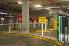 Entrance to underground parking. stock photos
