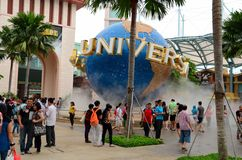 Entrance to Universal Studios Theme Park, Sentosa island Singapore Stock Image