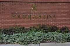 Entrance to the University of South Carolina Campus in Columbia Stock Images
