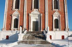 Entrance to the Uspensky Cathedral  of Ryazan Kremlin Stock Images