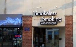 The entrance to a vapor lounge Stock Image