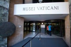 Entrance to the Vatican museum. VATICAN - CIRCA SEPTEMBER 2014: Entrance to the Vatican museum stock images