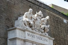 Entrance to the Vatican museum on May 30, 2014 Stock Photography